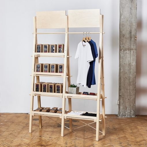 double unit shelving & rail