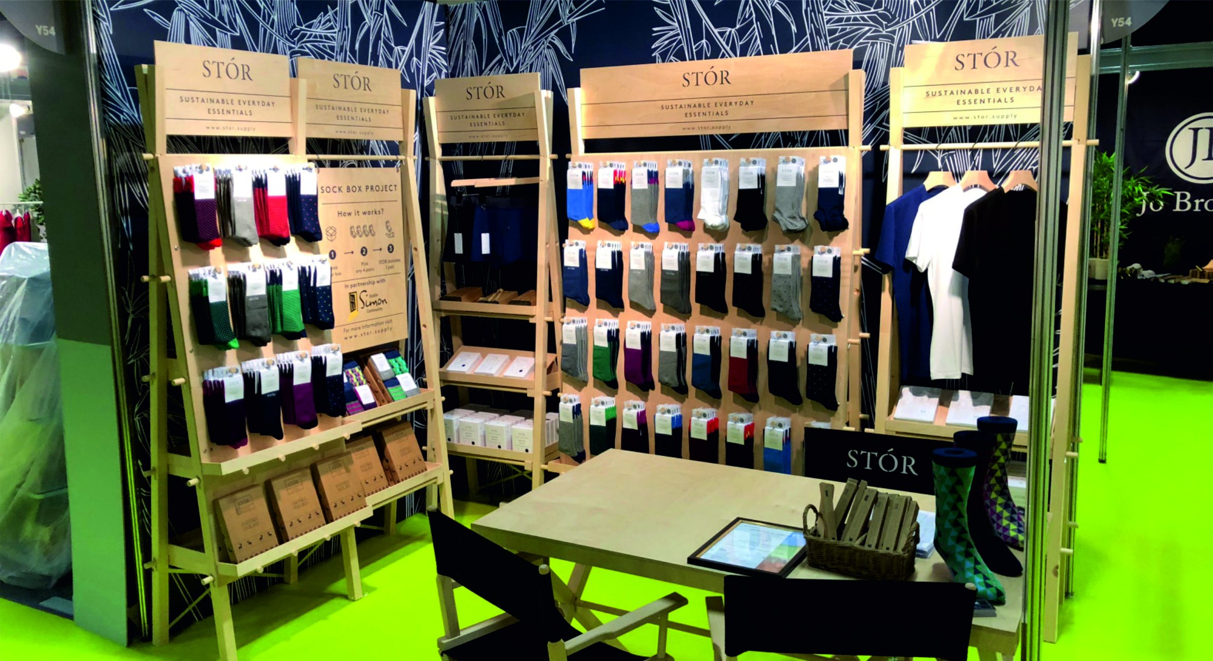 Wooden trade show stands
