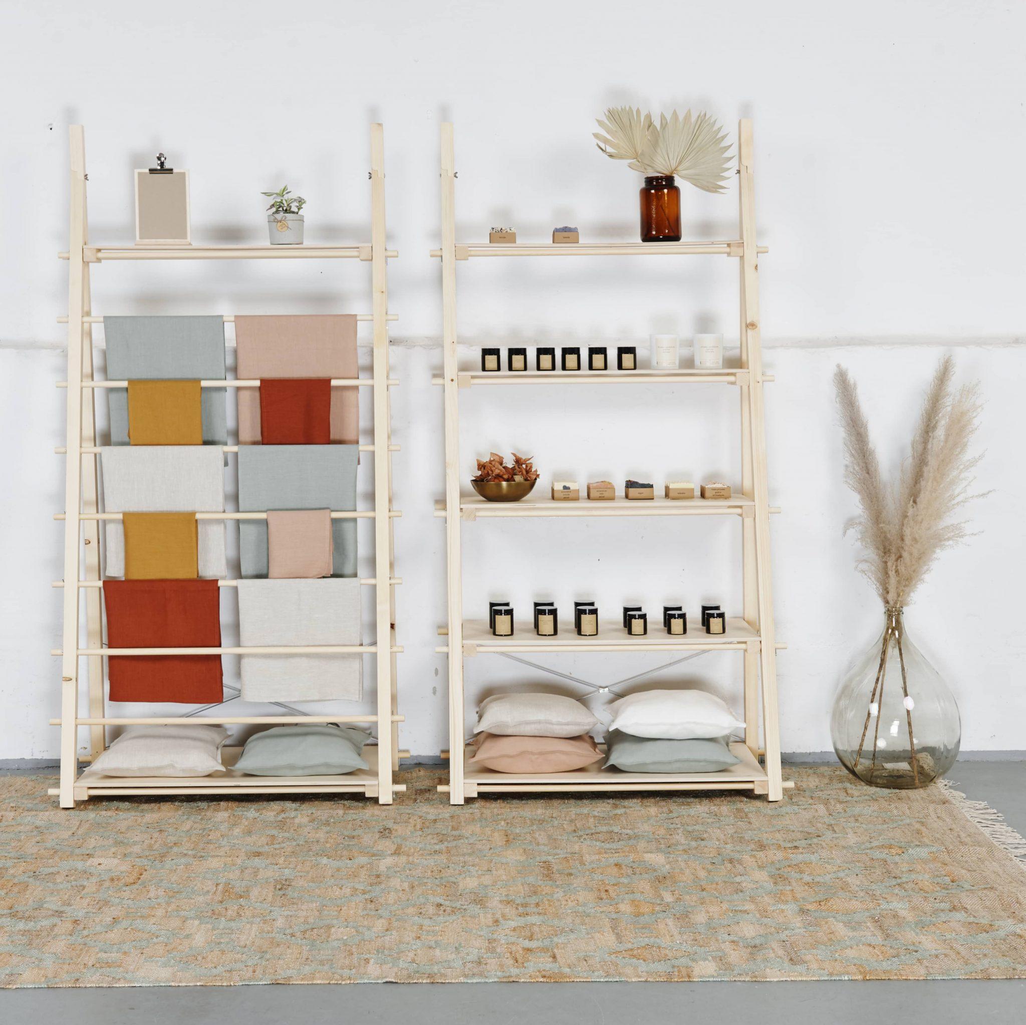 Stojak na tkaniny, ręczniki, obrusy, poszewki, pościele
